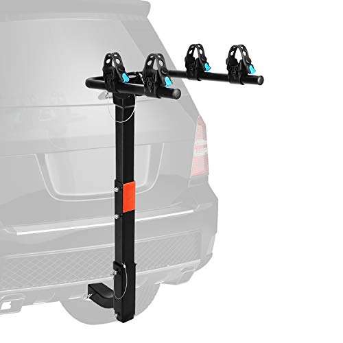 "XCAR 2-Bike Bicycle Hitch Mount Carrier Rack Heavy Duty for Cars, Trucks, SUV's Hatchbacks Fit for 2"" Hitch Receiver"