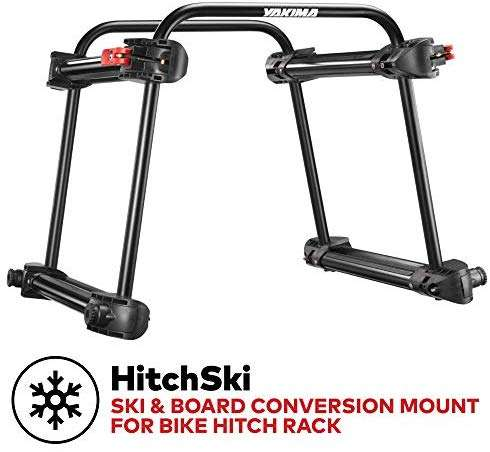 Yakima - HitchSki Ski & Board Conversion Mount for Bike Hitch Rack, Fits Up to 6 Pairs of Skis or 4 Snowboards