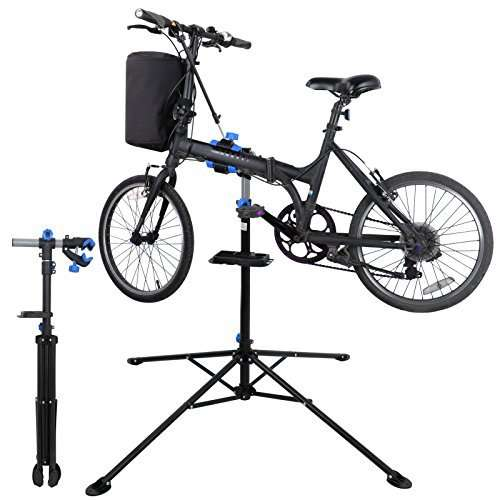 ZENY Adjustable Mechanic Bike Repair Stand Bicycle Maintenance Rack Workstand with Tool Tray 360 Degree Rotation Telescopic Arm Cycle