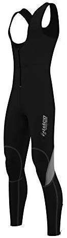 Zimco Men Winter Cycling Thermal Insulated Bib Tights Non Padded Bib Pants Windproof Bike Leggings