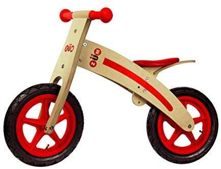 Zum CX Wooden Kids Balance Bike for Toddlers 3 4 5 and 6 Year Old, Toddler Bike, Glider Style Wood Frame, No Pedal, Mini Bike for Boys or Girls