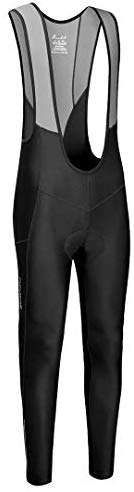qualidyne Men's Cycling Bike Bib Long Pants Cycling Tights with 3D Breathable Pad, Excellent Performance & Better Fit