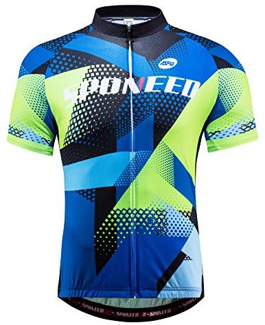 sponeed Men's Bicycling Jersey Bike Cloth Cycling Shirts Tops Breathable Jacket
