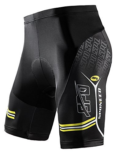 sponeed Men's Bike Shorts Gel Padded Bottoms Cycling Pants Tights Bicycle Clothes Biking Gear