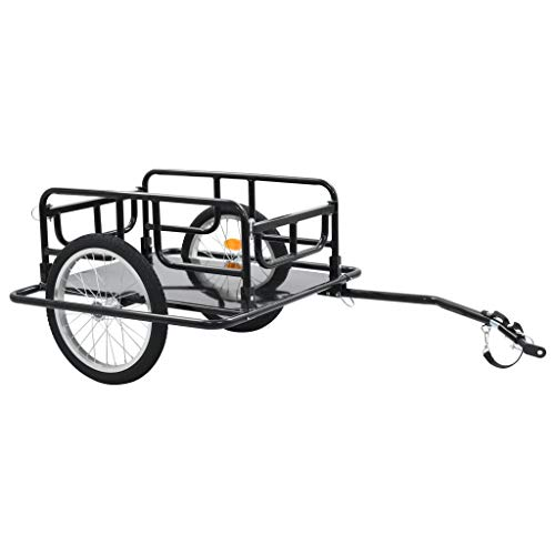 vidaXL Bike Cargo Trailer/Hand Wagon Black 15 gal