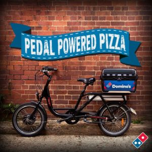 dominos pizza e bike