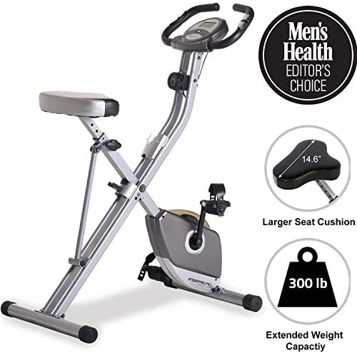 Exerpeutic Folding Magnetic Upright Exercise Bike with Pulse