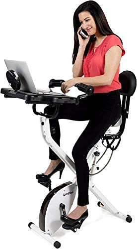 FitDesk Standing Adjustable Desk Bike for Exercising for Home Use or Office