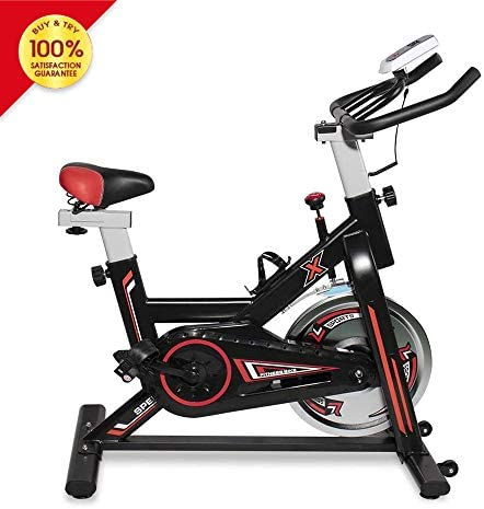 LTTROMAT Exercise Bike Indoor Cycling Bike Spinning Bicycle Stationary Bike With LCD Display And Heart Rate Adjustable For Home Office Cardio Workout Training For Home Fitness Bicycle Equipment