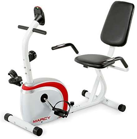Marcy Recumbent Exercise Bike with Magnetic Resistance and Pulse Sensor NS-908R