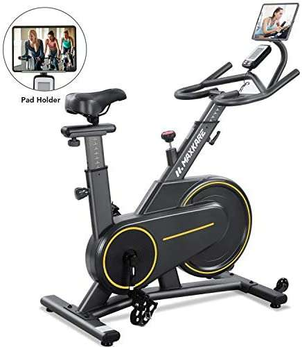 MaxKare Exercise Bike Stationary Magnetic Indoor Cycling Bike Belt Drive for Home with 35lbs Flywheel & Heart Rate Monitor/ LCD Monitor for Women & Men