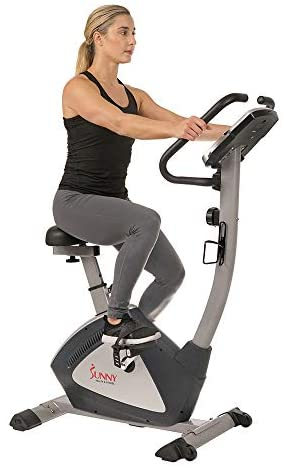 Sunny Health & Fitness Endurance Zone Upright Bike - SF-B2956, Gray