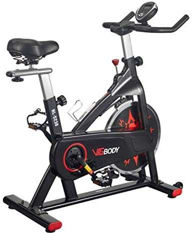 VIGBODY Exercise Bike Indoor Cycling Bike Adjustable Stationary Bicycle for Home Gym Workout Cardio Bikes Upright Bike